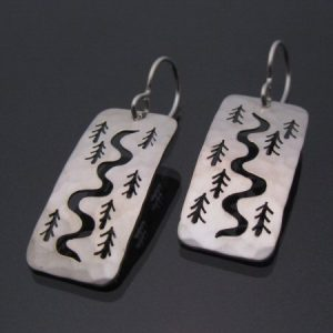 Tree Tracks Earrings - Side