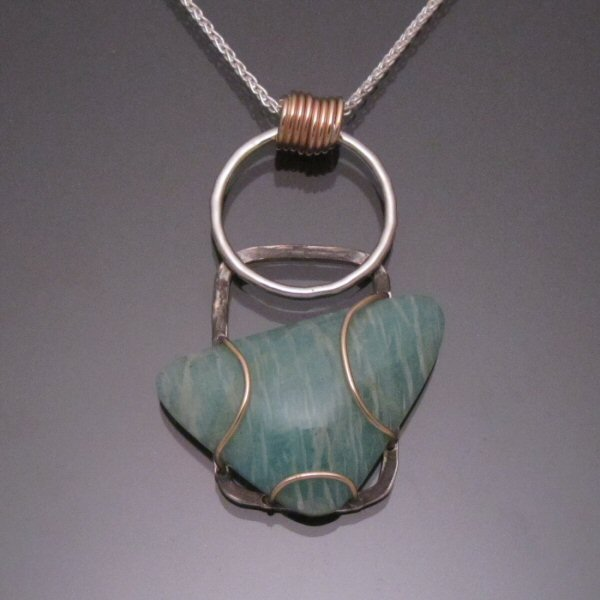 Joy pendant with amazonite 1 carrabassett valley jewelry joy pendant with amazonite 1 top with chain aloadofball Gallery