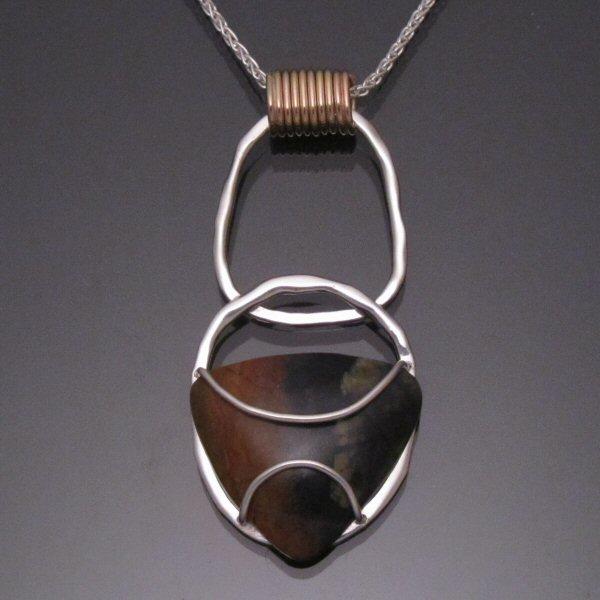 Joy pendant with picasso stone 1 carrabassett valley jewelry joy pendant with picasso stone 1 top aloadofball Gallery